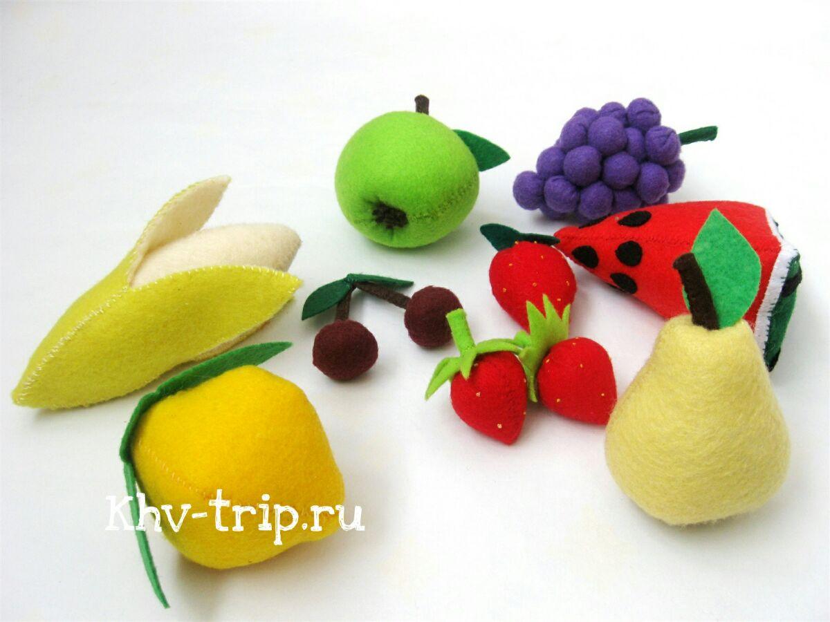 Мастер класс по шитью фруктов из фетра