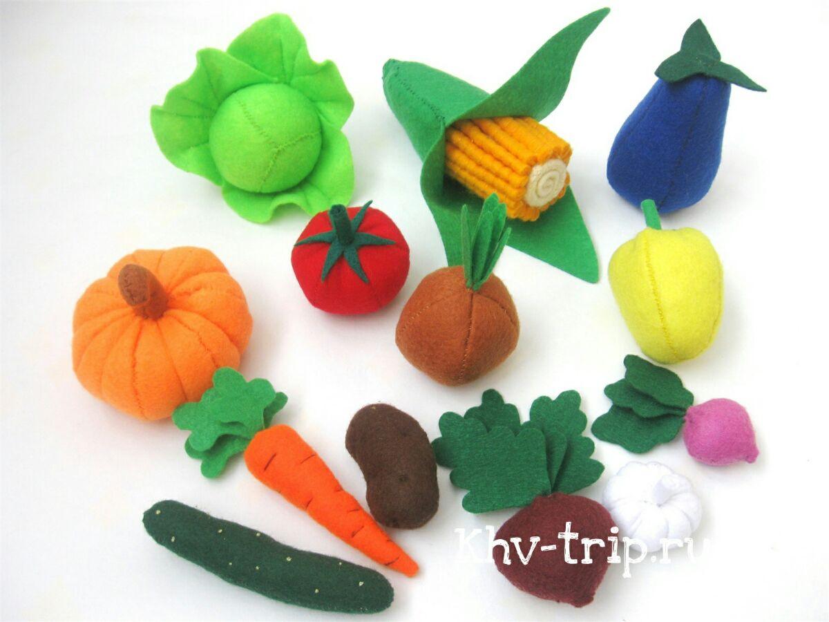 Овощи из фетра Мастер класс выкройки