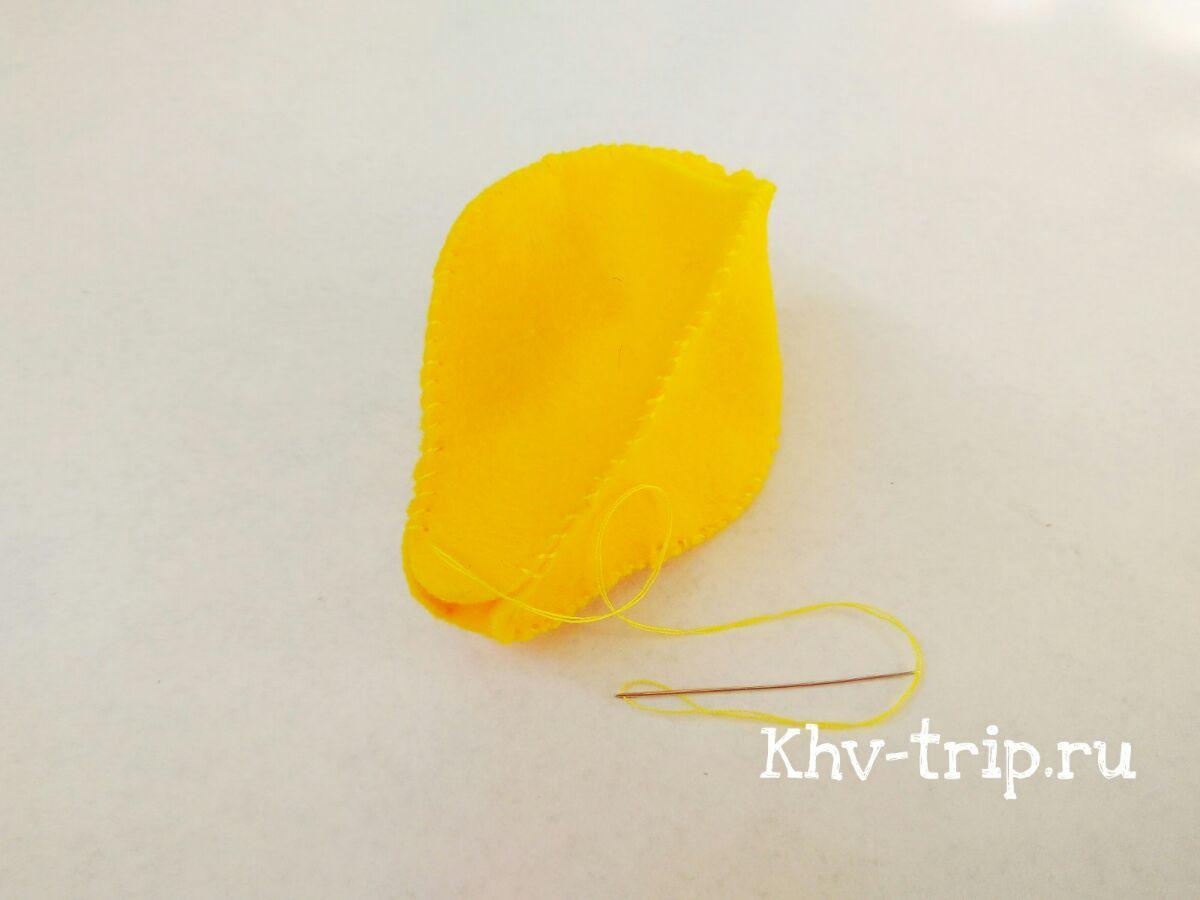 Лимон из фетра мастер класс