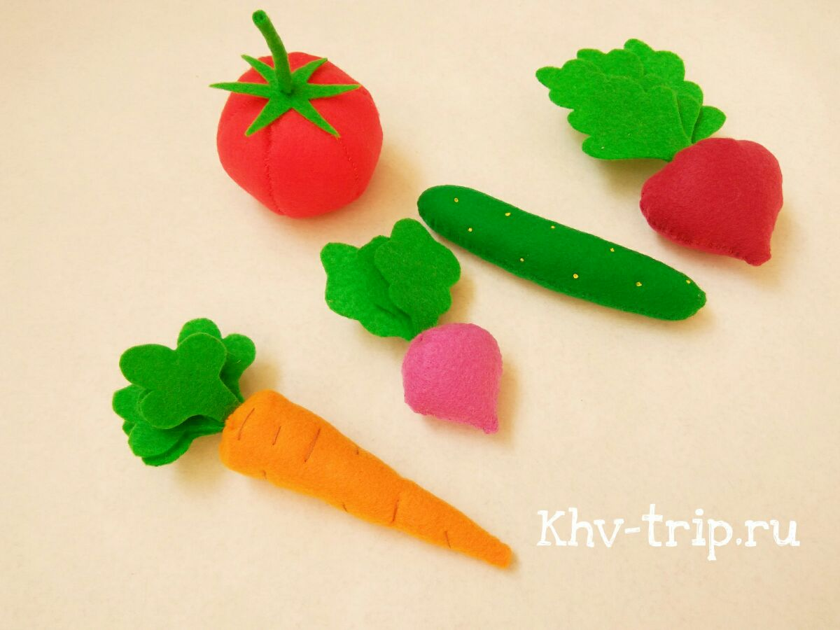 овощи из фетра мастер класс