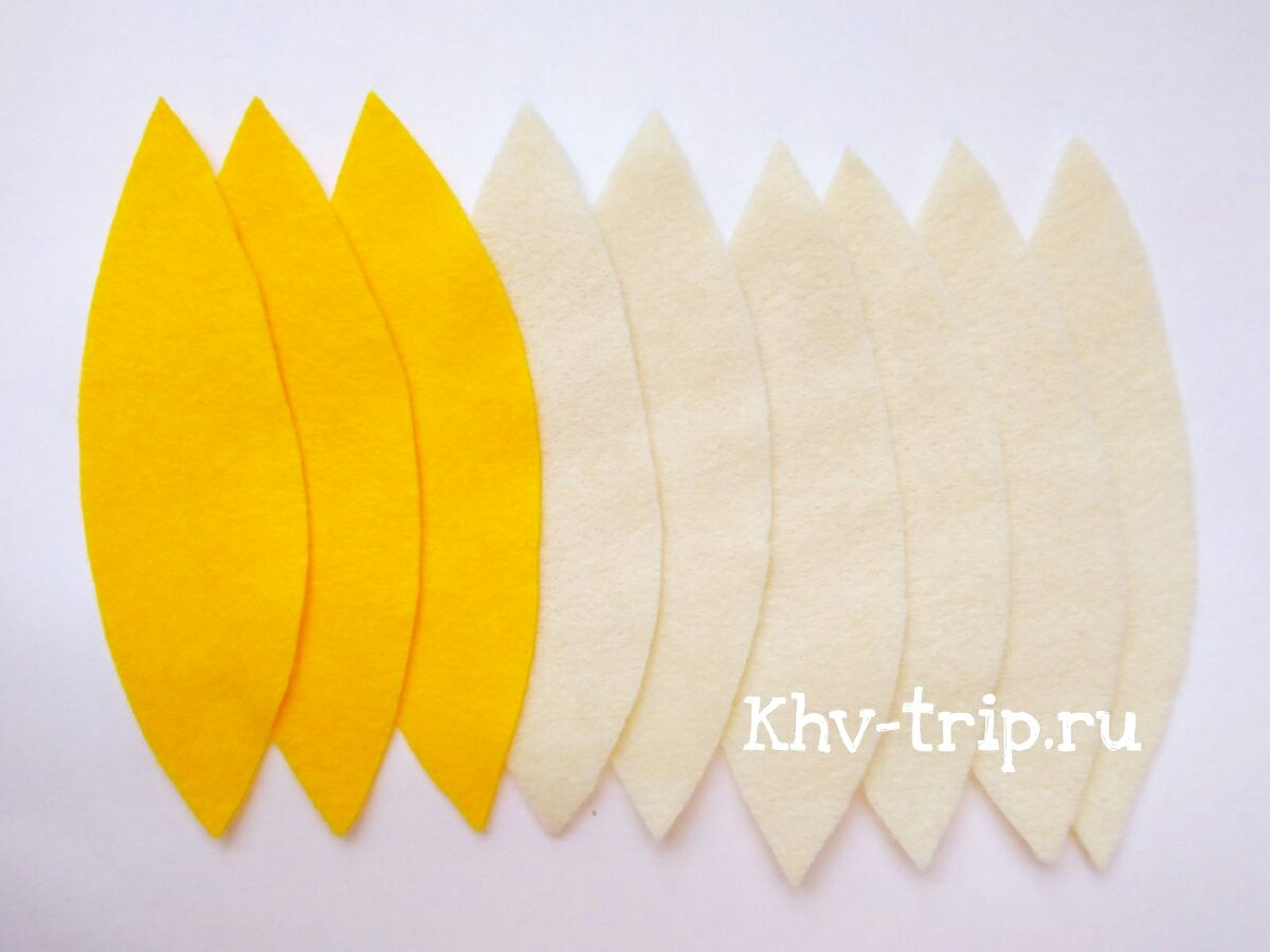 банан из фетра выкройка