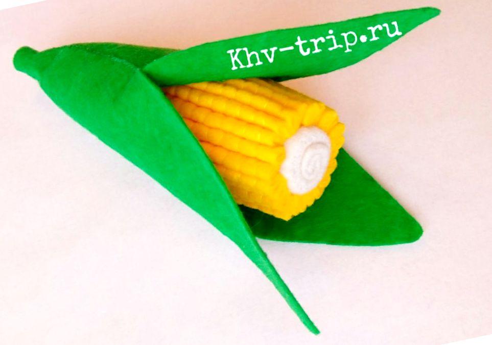 кукуруза из фетра выкройка и мастер-класс