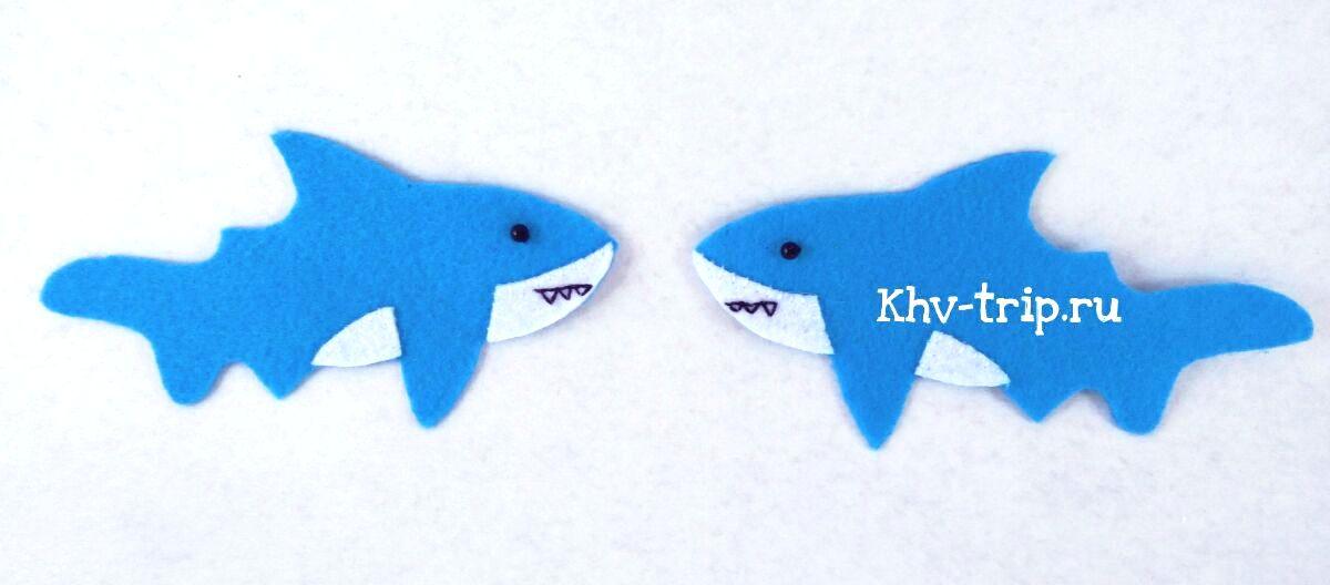 акула из фетра выкройка