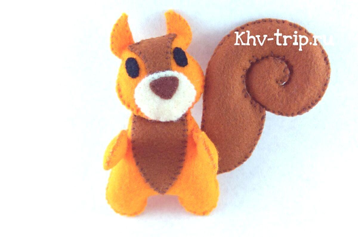 Белка из фетра игрушки детям