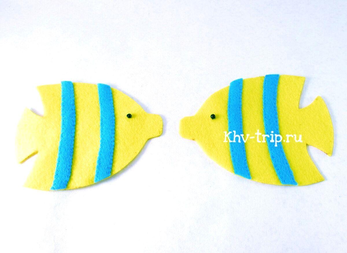 рыбка из фетра выкройка