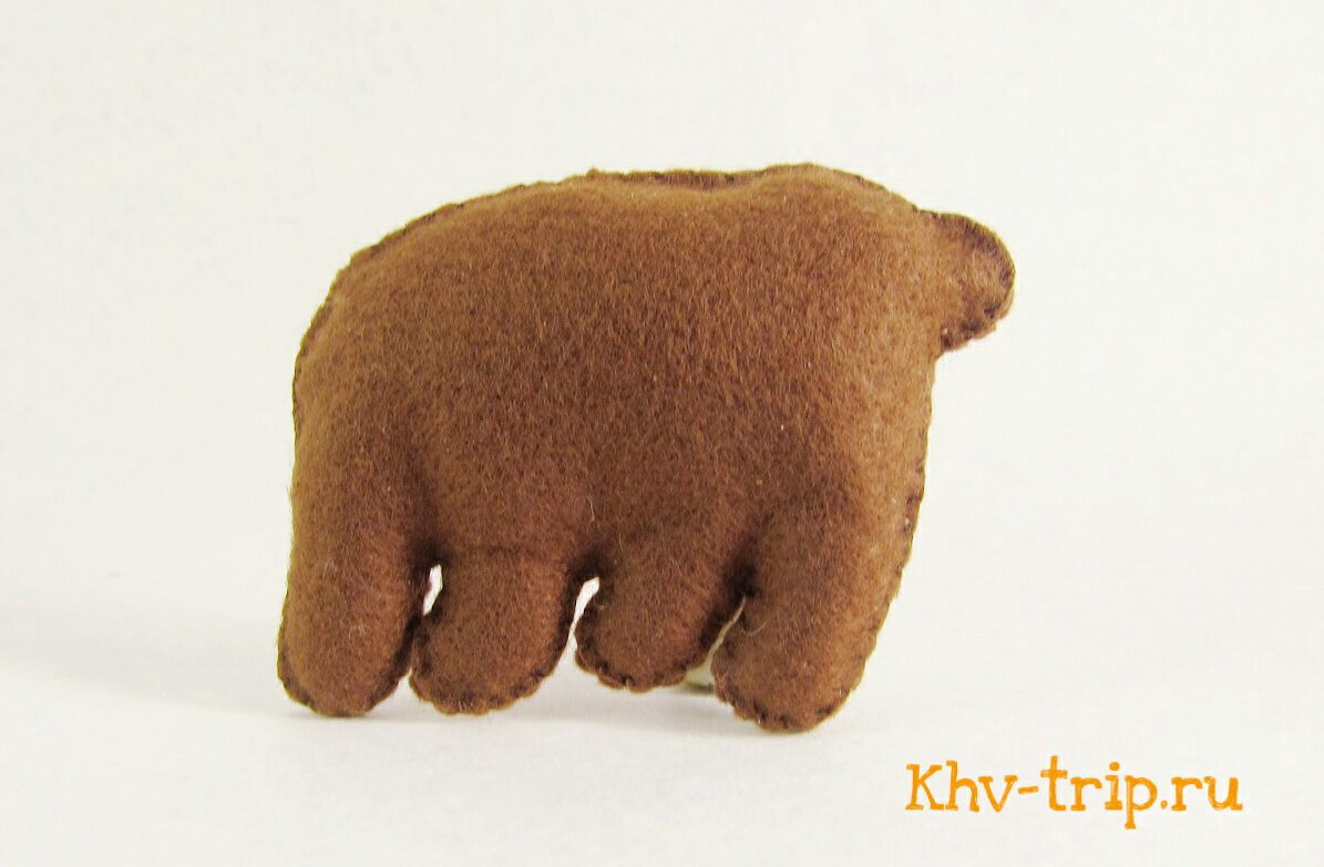 Мишка (медведь) из фетра мастер-класс и выкройка