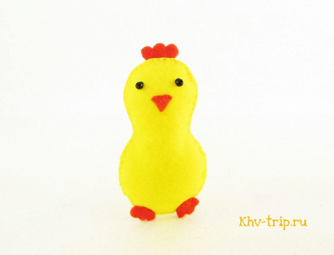 Цыпленок из фетра своими руками выкройка