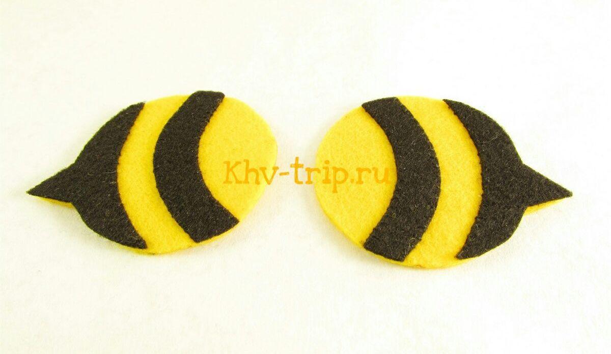 шмель (пчелка) из фетра мастер-класс с выкройкой
