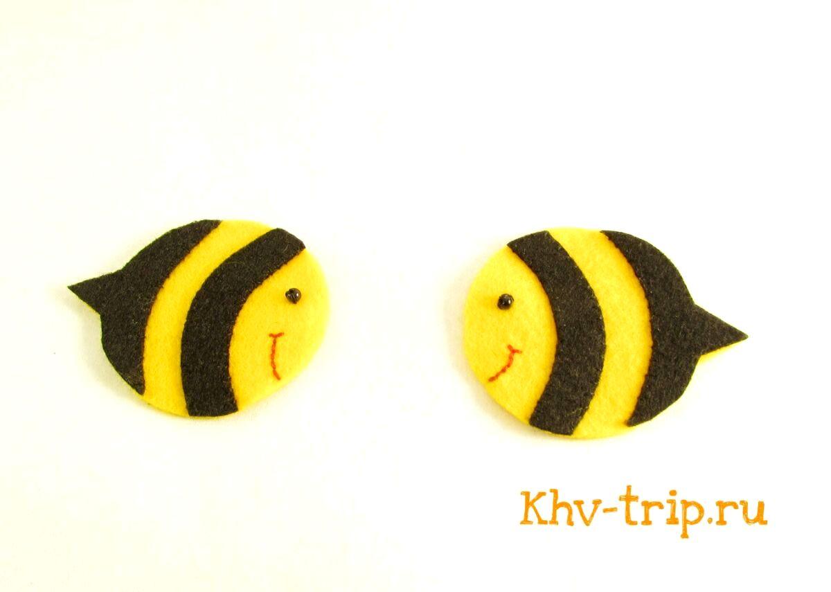 игрушка пчела из фетра выкройка