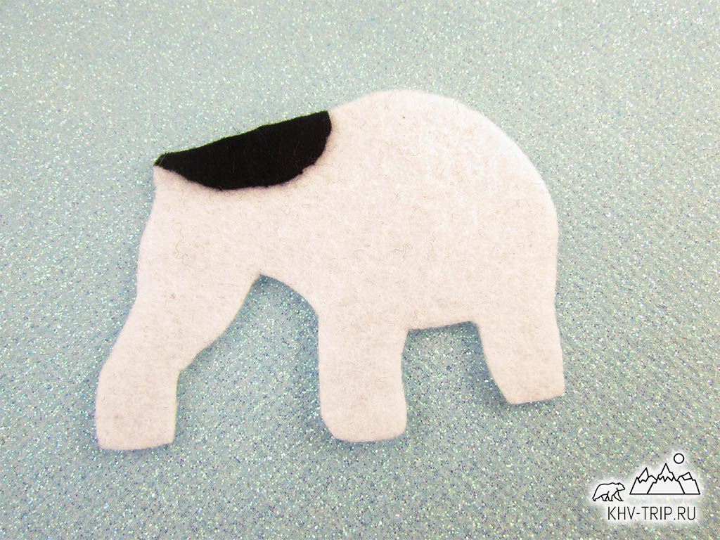новогодняя игрушка собака из фетра выкройка