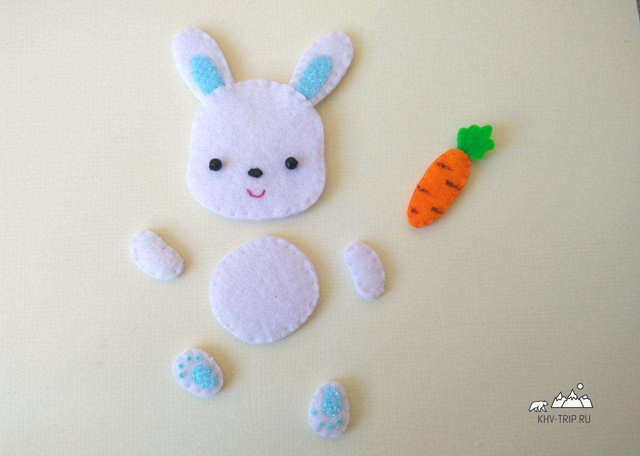 пасхальный заяц из фетра подставка для яиц