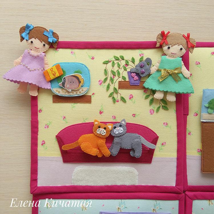 кукольный домик для девочек своими руками