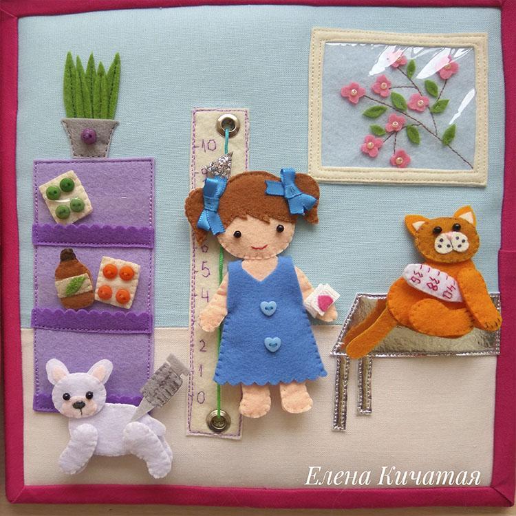 кукольный домик для девочек из фетра своими руками