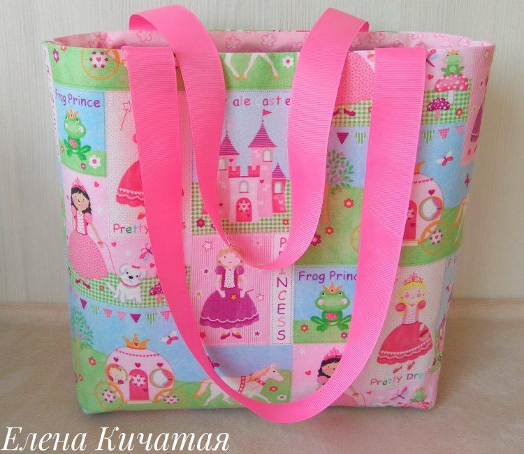 сумочка из хлопка для развивающей книжки